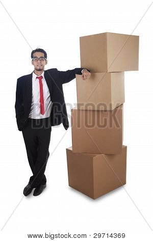 Business Moving Isolated On White