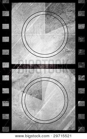 Grunge film countdown in dark color grunge style