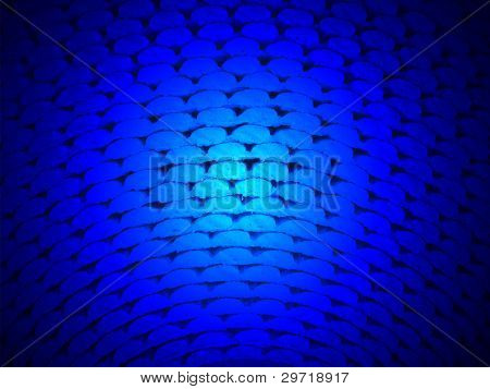 Abstract blue light over Roll Surface, Texture Closeup