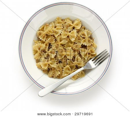 kasha varnishkes, buckwheat and bow-tie pasta, a traditional jewish dish