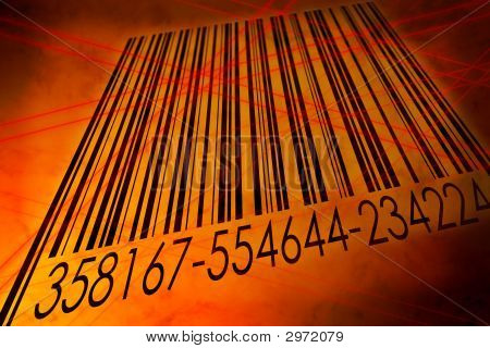 Barcode Scanned By Laser Reader
