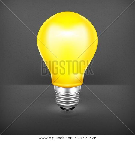 Light bulb, vector