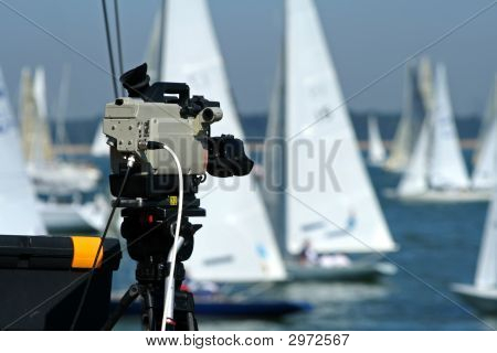 Sports Camera Recording The Boat Racing