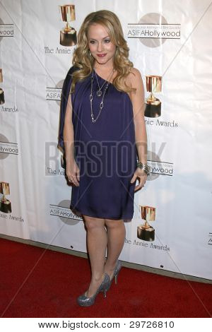 LOS ANGELES - FEB 4:  Kelly Stables arrives at the 39th Annual Annie Awards at Royce Hall at UCLA on February 4, 2012 in Westwood, CA