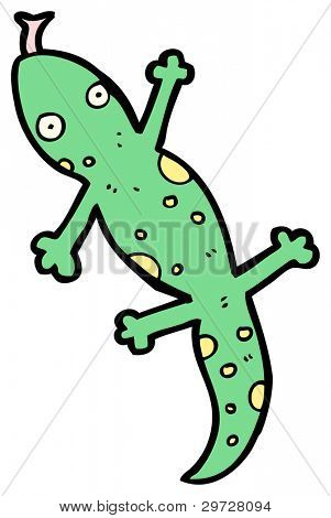 cartoon lizard (raster version)