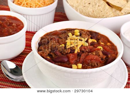 Taco Soup With Condiments
