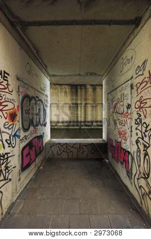 Graffiti Under A Highway Bridge