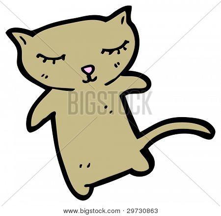 (raster version) cartoon cute cat