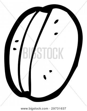 (raster version) cartoon coffee bean