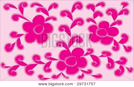 Decorative Flowers With Leaves