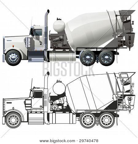 Camiones hormigonera de Vector