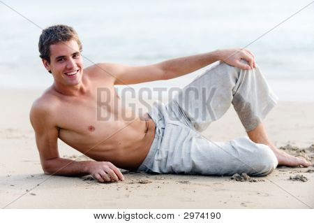 Man On Beach