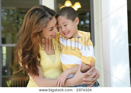 Mother And Son Hug