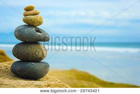 Zen Stone Stacked Togther