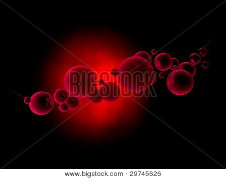 Red Abstract composititon