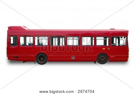 Red Single Deck Bus
