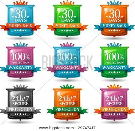 web satisfaction guarantee badges