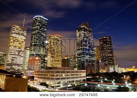 Downtown Houston à noite