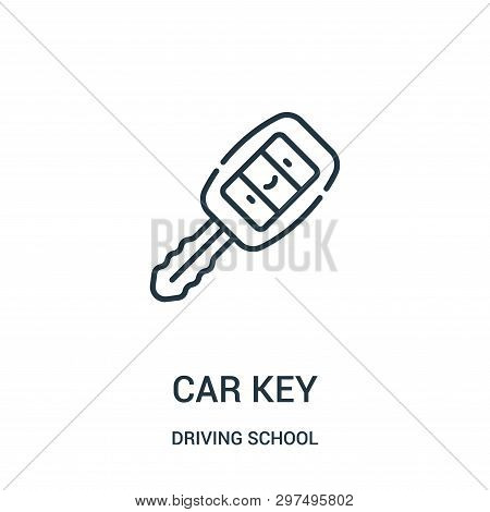 poster of Car Key Icon Isolated On White Background From Driving School Collection. Car Key Icon Trendy And Mo