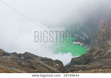 Steaming Crater of the Mount Naka - Mount Aso, Japan
