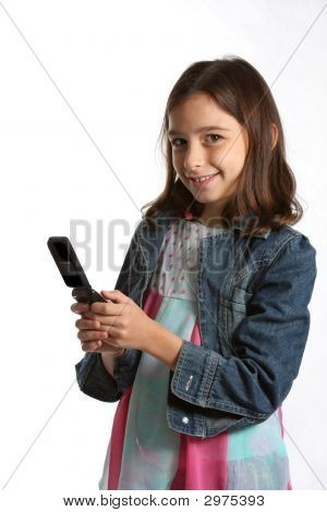 Young Girl / Child With Cell Phone