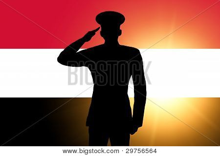 The Egyptian flag