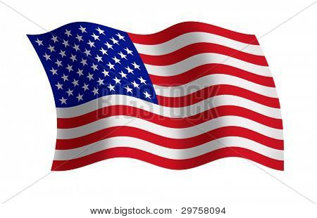 Raster illustration of the USA flag
