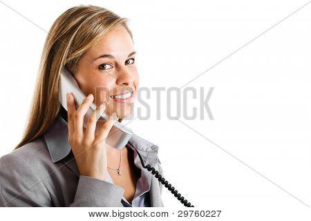 Portrait of a beautiful customer representative smiling