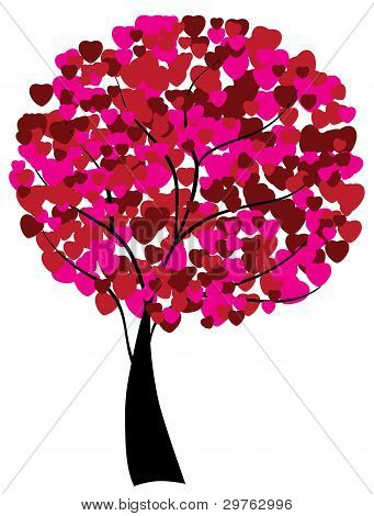 Love Tree With Hearts