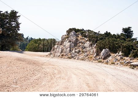 Road, Enos Mountain - Kefalonia