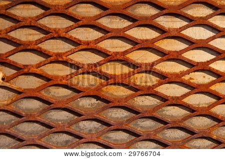 Rusty Crisscross Diamond Background Wood Board