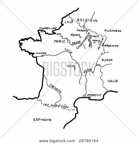 Artistic France map