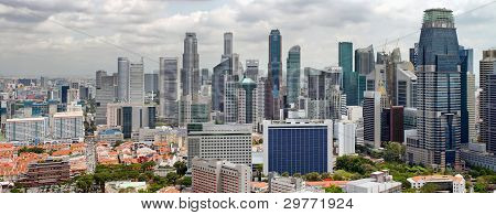 Singapore Cityscape With Central Business District View