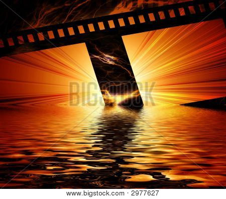 Burning Negative Film Strip