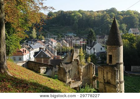 France, The Small City Of Pierrefonds In Picardie