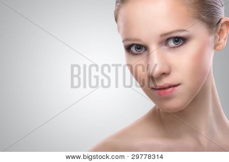 Healthy Face Of Beauty  Young Woman