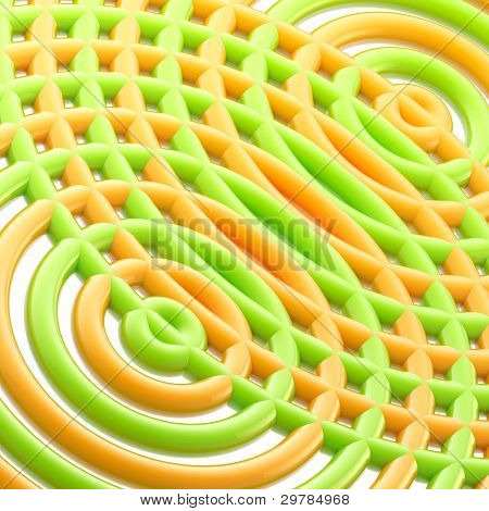 Abstract circular background made of glossy rings