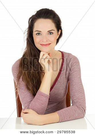 Portrait Of Happy Beautiful Young Woman