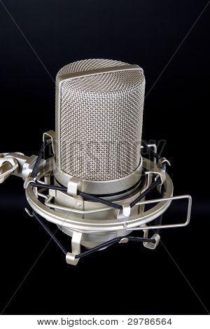 Studio Microphone Isolated on Balck