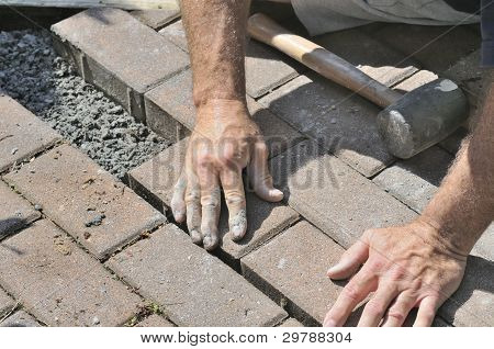 Installing Brick Patio