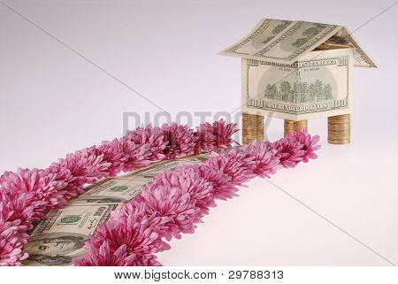 It Is Dear From Dollars And Flowers Approaches To The House