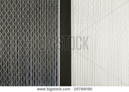 schmutzigen und sauberen Luftfilter