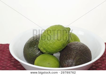 Whole Avocados And Limes