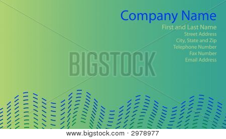 Blue And Green Business Card
