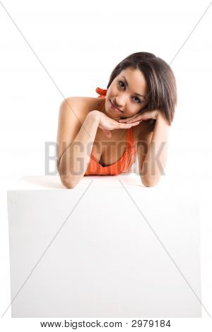 Woman And Billboard