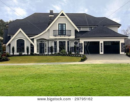 Brand new upscale contemporary house.