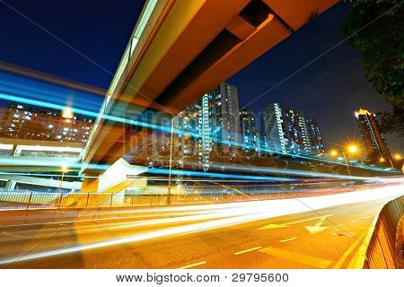 urban traffic at night