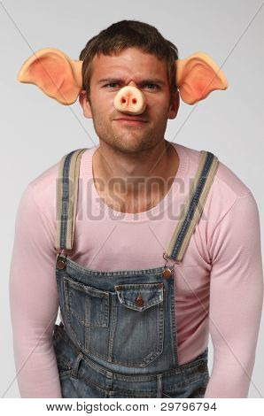 Man In Pig Suit