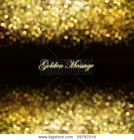 Abstract Golden Background With Place For Text