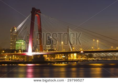 Willemsbridge and Erasmusbridge, Rotterdam, the Netherlands